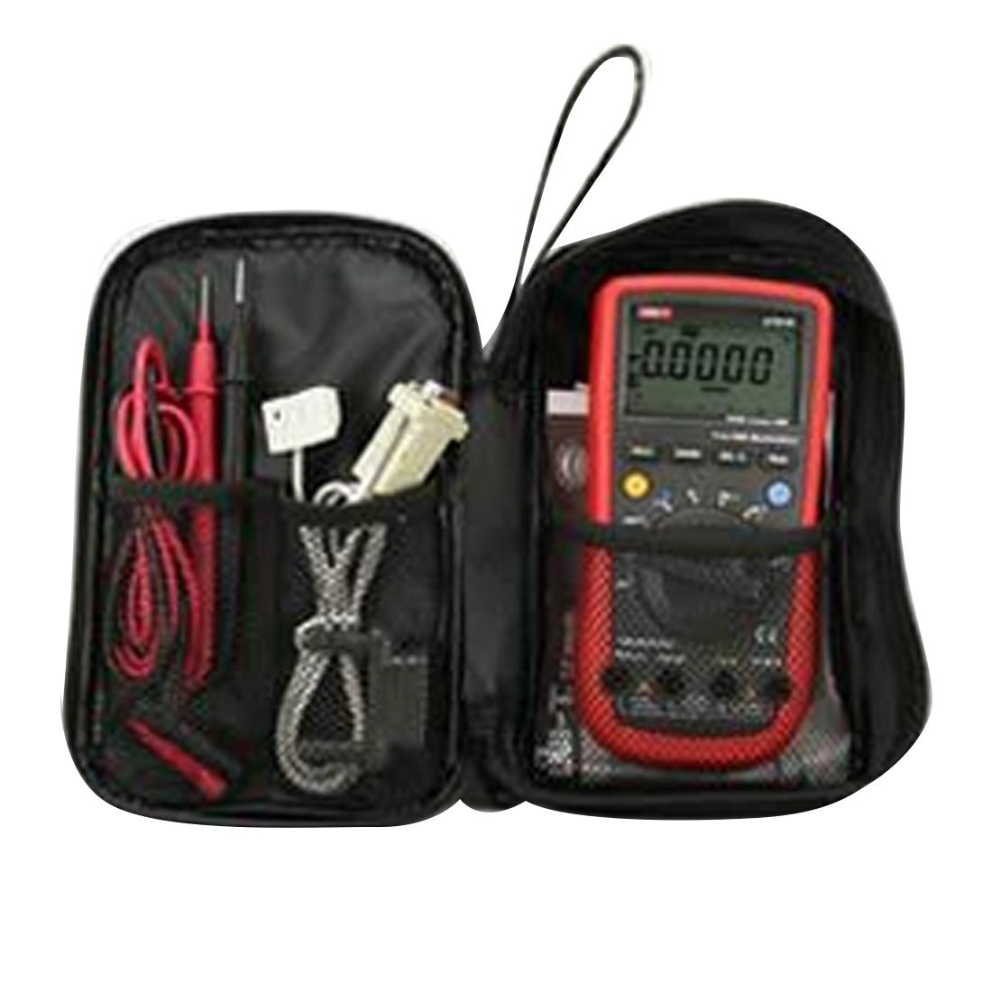 Durable  Waterproof Tools Bag Multimeter Black Canvas Bag For UT61 Series Digital Multimeter Cloth 20*12*4cm