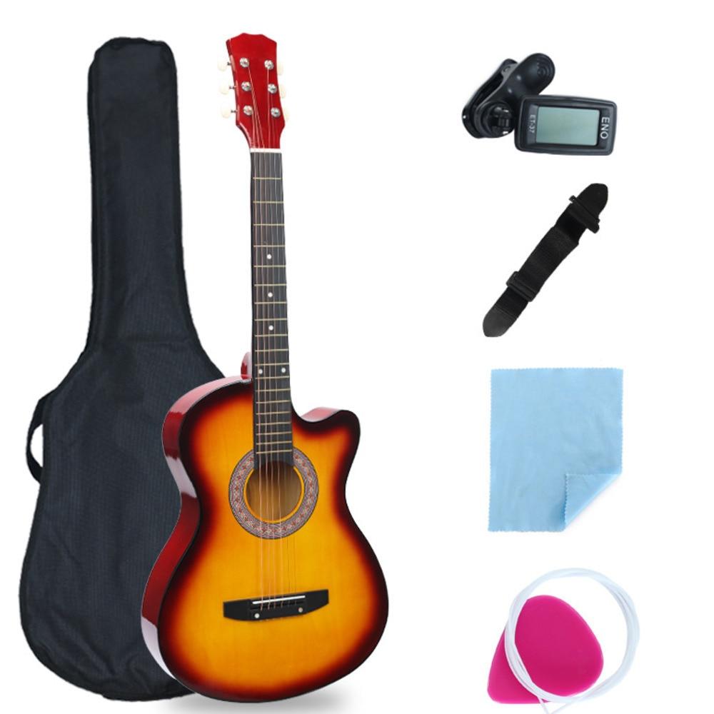 38 tums saknad vinkelgitarr full utrustning nybörjare introduktion - Skola och pedagogiska förnödenheter - Foto 4