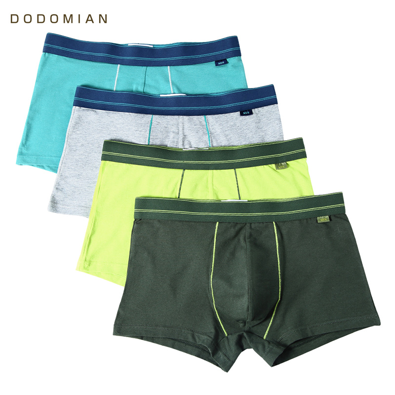 Men Underwear Cotton Solid Male Boxer Young Men Cuecas Green Underwear for Men Plus Size L-4XL Fashion High Quality Panties