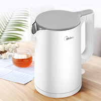 1.5L Exquisite Fashion Stainless Steel Electric Kettle Low Noise Double Layer Anti scalding Automatic Power off Kettle