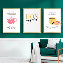 Nordic Style Kids Room Decor Posters And Prints Coffee Wall Art Canvas Painting Greetings Words Pictures For Kitchen No Framed
