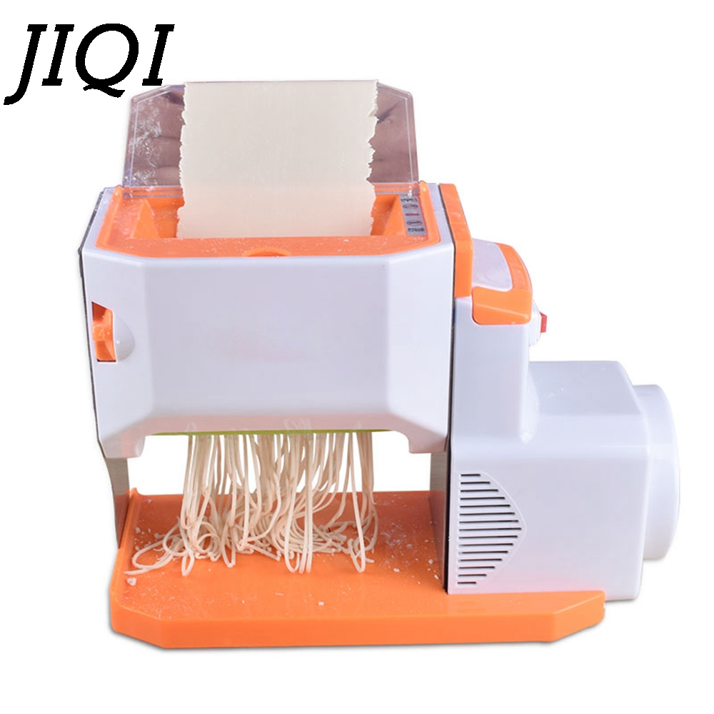 JIQI Electric Noodles Pressing Machine Commercial Stainless steel Automatic Manual Pasta Maker Dough Dumpling Spaghetti Cutter
