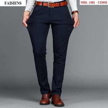 Men Casual Pants 9XL 10XL Large Size Stretch Trousers 7XL 8XL Autumn New Arrival Cotton 44 48 46 Khaki Elasticity Straight Pants - DISCOUNT ITEM  25% OFF All Category