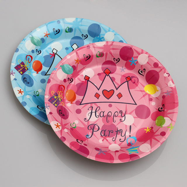 10pcs/lot 7 Inch Crown Princess Cake Plate Birthday Party Decorations Kids Party Supplies Disposable  sc 1 st  AliExpress.com & 10pcs/lot 7 Inch Crown Princess Cake Plate Birthday Party ...