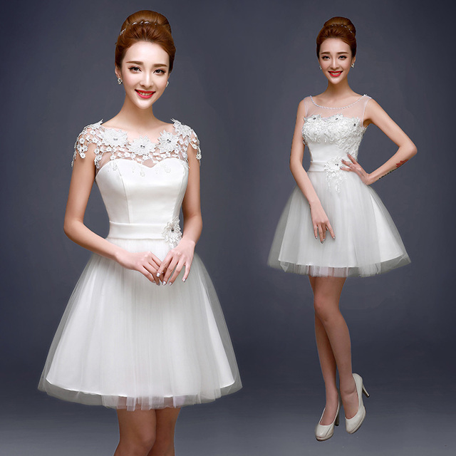 Hot Sale White Organza Short Graduation Dresses Spring Summer 2016