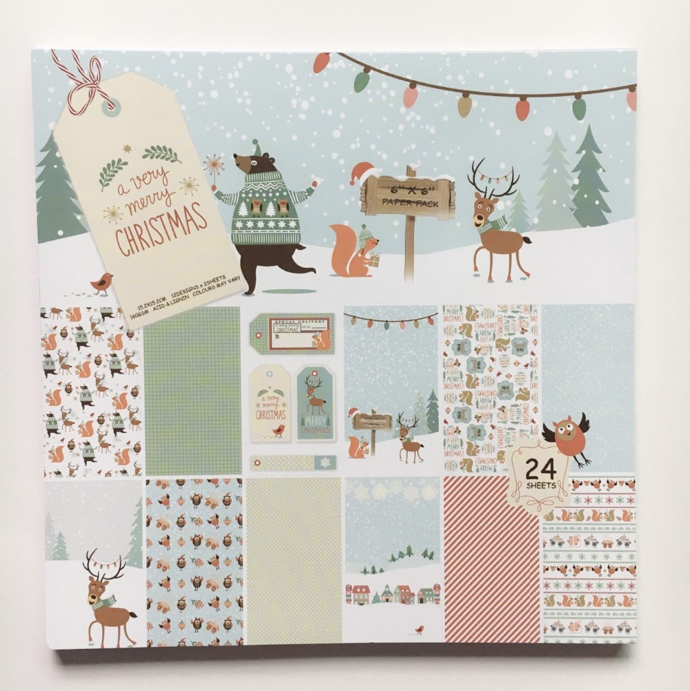 Scrapbook paper diy - New Style 6 A Very Merry Christmas Patterns 24sheets Diy Scrapbooking Paper Pack