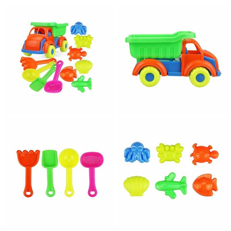 11pcs/set Summer Beach Sand Play Toys Sand Water Toys Kids Children Seaside Bucket Shovel Rake Kit Building Molds Funny Tools