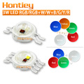 10pcs LED Chip 3W RGB Blue Green Red Yelow White Color Changing High Power Lamp 4-6-8Pins Spotlight Floodlight Wwholesale Diode