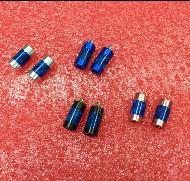 5Pair New MMCX gold  Plated Silver Earphone Pin Plug For Shure ED5 SE535 Carbon Fiber Connector цена и фото