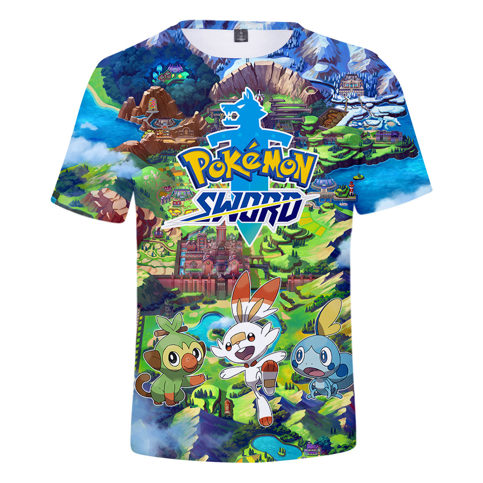 T-Shirt Kids Pikachu Clothes Pokemon Go Print Fashion Cartoon Summer Z 3D Y-3-20 Y-3-20