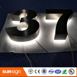 H 15cm LED letter signs with stainless steel shell
