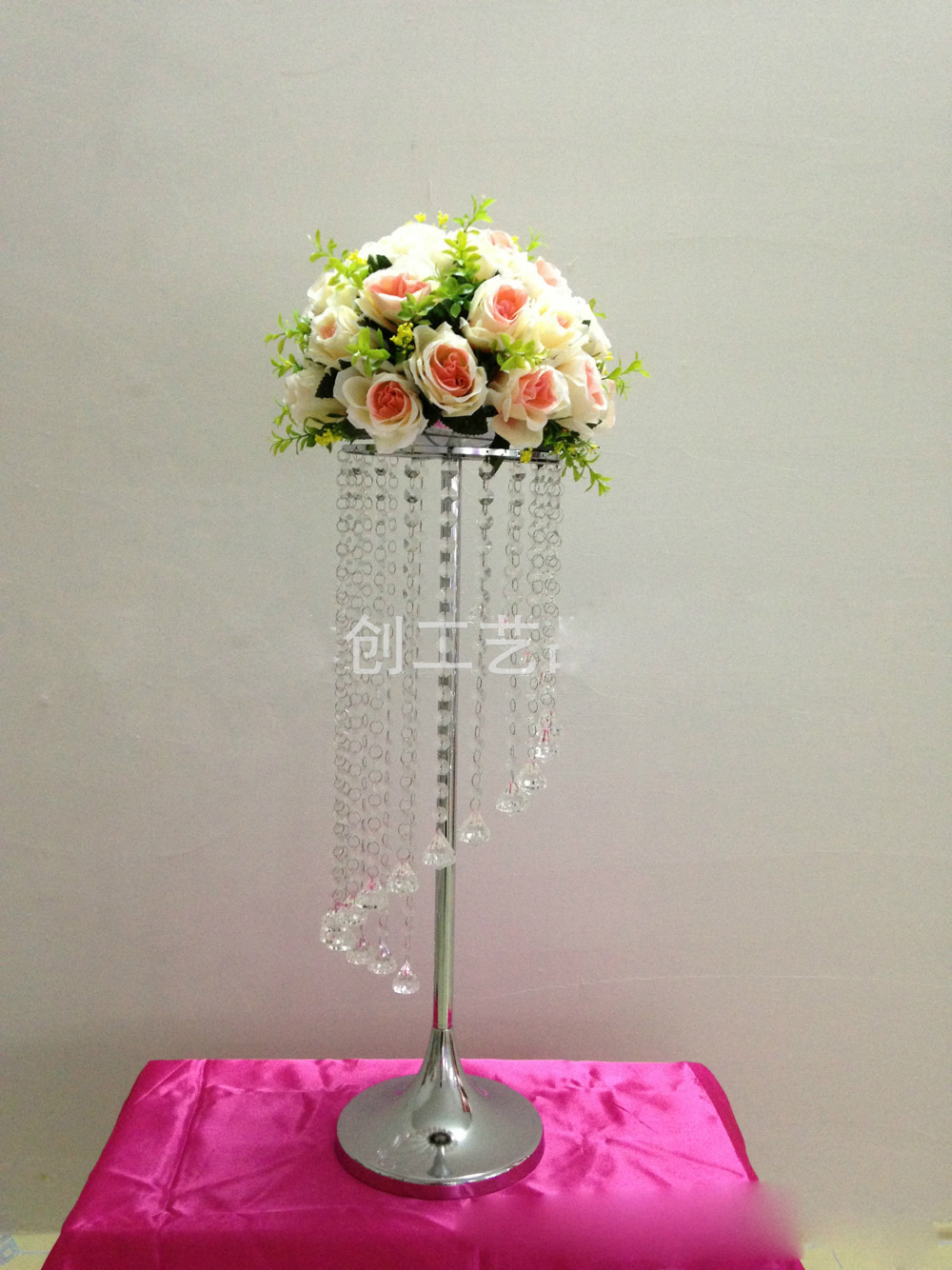 68cm tall hot sale crystal chandelier wedding centerpiece for Chandelier table decorations