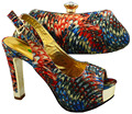 Orsnge Color African Shoe and Bag Set for Party In Women Shoe and Bag To Match for  BCH-20 38-42 Italian Shoe and Bag Set