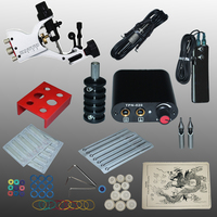 Professional 1 Set 90 264V Complete Equipment Tattoo Machine Gun Power Supply Cord Kit Body Beauty