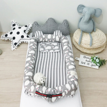 Baby Co спальные кроватки для новорожденных Мягкие хлопковые детские гнезда люлька Моисей Корзина кровать для путешествий толстый матрас для колыбели