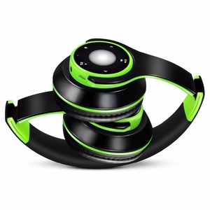 Image 2 - Foldable Colorful Wireless Stereo Bluetooth Over Ear Headphones with Microphone and TF card play for Kids Children Women Men