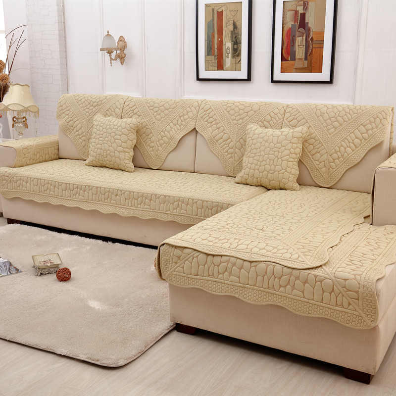 Anti Skid L Shaped Sofa Cover