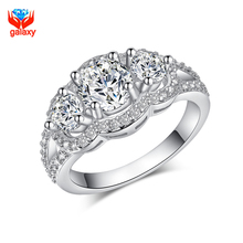 90% Off !! 100% 925 Sterling Silver Wedding ceremony Rings for Girls Prime High quality Cubic Zircon Diamond Engagement Ring Lady Jewellery ZR091