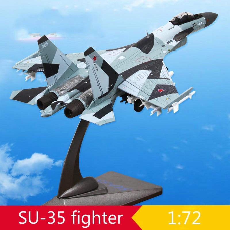 Alliage 1: 72 Su 35 modèle de combattant Simulation modèle décoratif avion moulé sous pression Su35 avion Aviation militaire modèle Souvenir