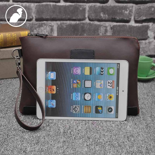 ETONWEAG Famous Brands Cow Leather Wallet Men Clutch Bags Brown Vintage Travel Organizer Wallets Business Style Phone Coin Purse 3