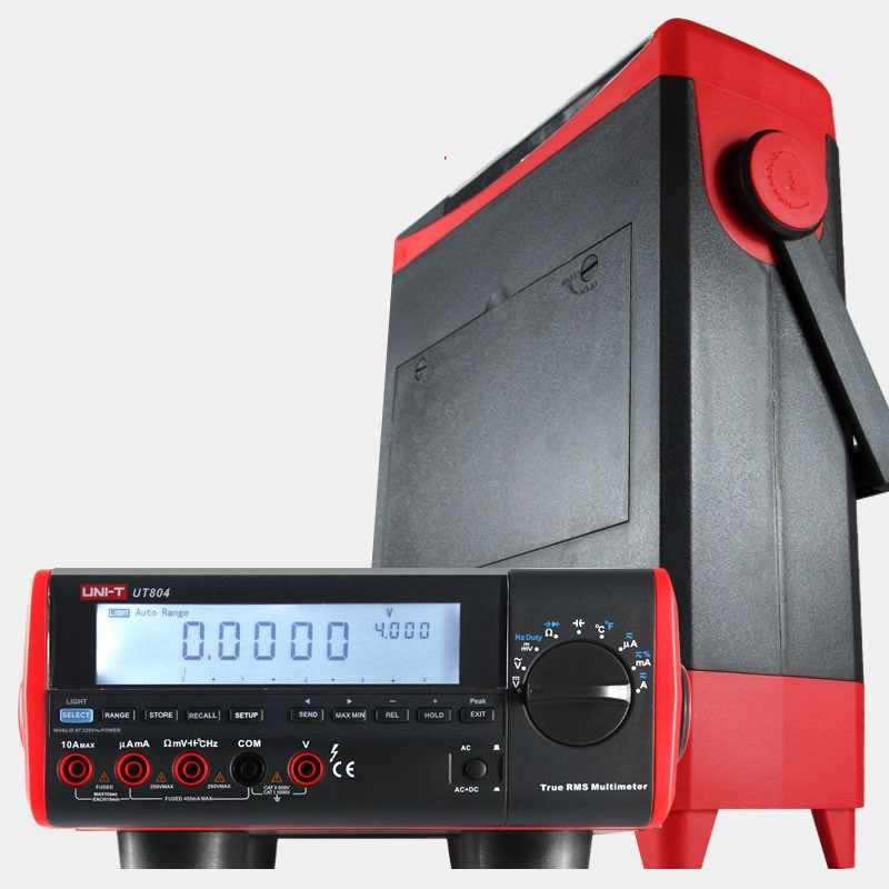 UT804 Desktop Digital Multimeter 1000V 10A 39999 High-Precision Multimeter Resistance Capacitance Frequency Temperature Tester victor victory multimeter vc86e 4 1 2 digit precision multimeter frequency capacitance temperature with usb