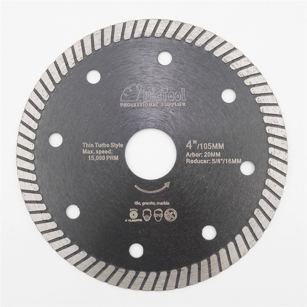 DIATOOL Diamond Hot Pressed Superthin Diamond Turbo Blade Ceramic Tile Granite Cutting Disc Diamond blade 4 4.5 5 available
