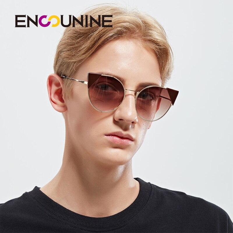 2723b4b5d6 ENSUNINE Cat Eye Unisex Women Men Sunglasses 2017 New Fashion Metal Frame Mens  Sunglass Famous Brand