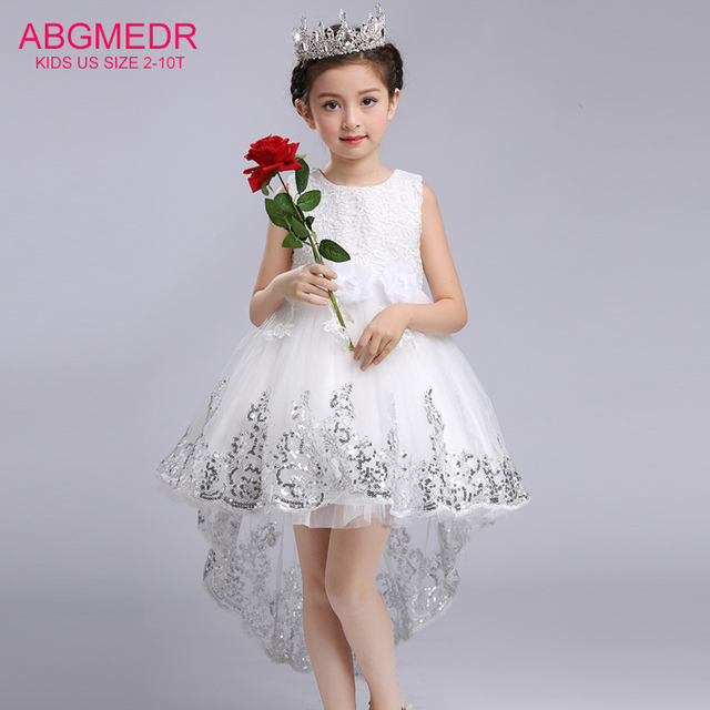e18894c3b 2018 Girls High Low Dresses for Wedding and Party Children Sequin ...