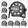 8pcs/lot Fast Shipping LED Fat Par 9X10W+1X30W Led Light RGB 3IN1 LED Light Stage DJ Light DMX Led Par Par Party Lights