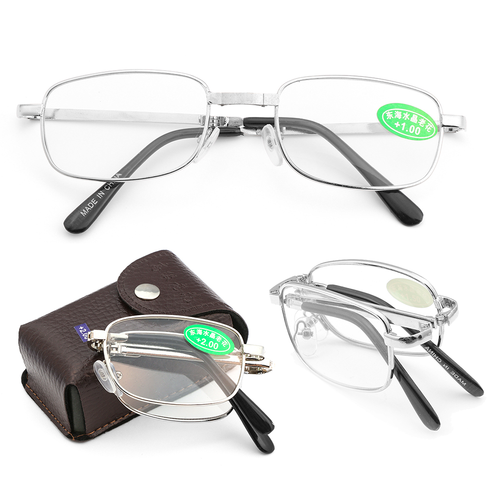 Unisex +1.0~4.0 Diopter Rimless Magnetic Eyeglasses Fashion Reading Glasses with Box Ultralight Vision Care Folding Eyeglasses 3