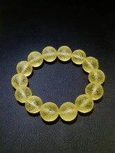 16mm natural Libyan gold meteorite bracelet