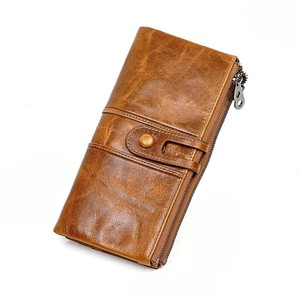 Image 4 - Mannen Portemonnees Lange Rits Lederen Mannelijke Clutch Bags Met Gsm Houder Hoge Kwaliteit Kaarthouder Portemonnee