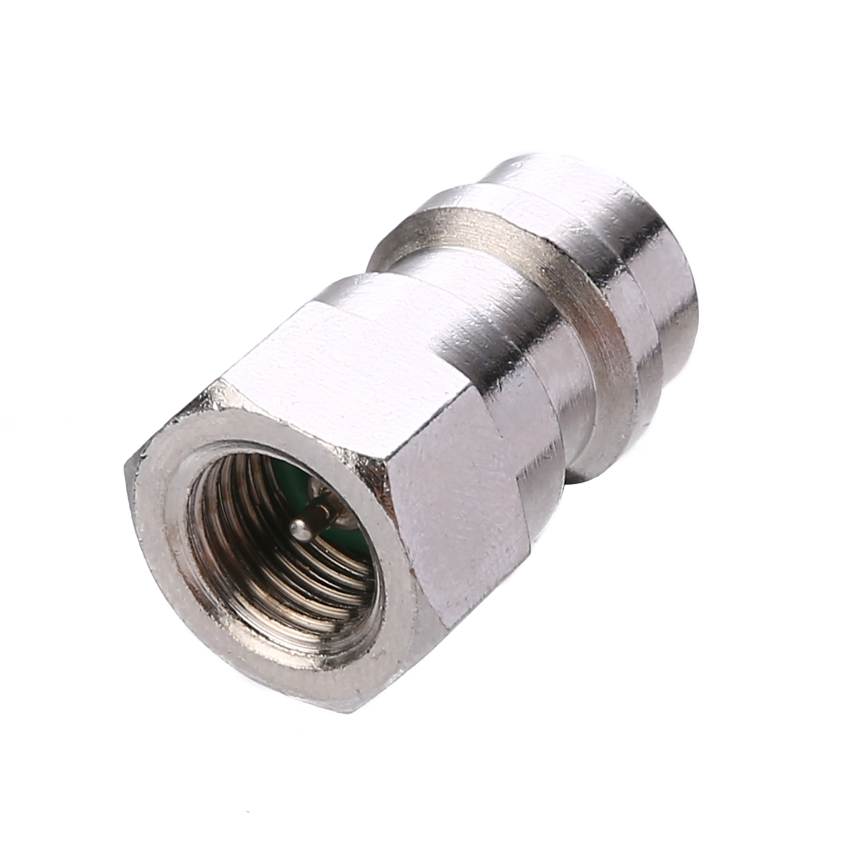 1set AC Fitting Port Adapter Retrofit R12 To Accept R134 High Low Double-Head Valve Core Side A/C Retrofits Fittings Tool