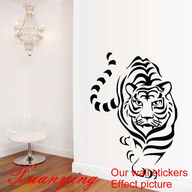 aliexpress.com : acquista 2017 diy singolo scavare tiger adesivi ... - Stickers Murali Camera Da Letto