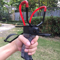 Strong red rubber elastics red laser sight with a solid steel frame outdoor hunting essential items slingshot
