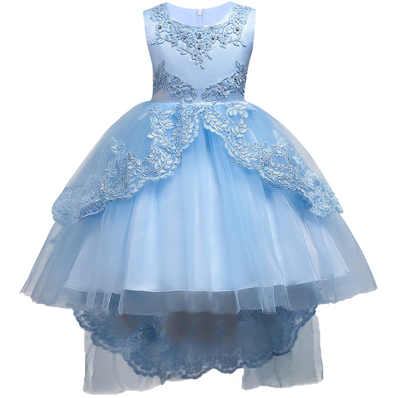 Formal Evening Gown embroidere Wedding Princess Dress Girls Children ...