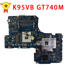 SAMXINNO Für Asus R900VB K95VB Motherboard ZAY90 LA-A681P Mainboad GT740 2G 4RAM