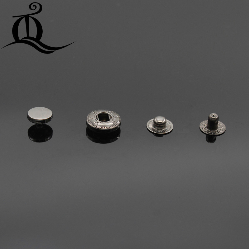 633 10 Poppers Snap fasteners Press studs Buttons Antique brass 15-20mm