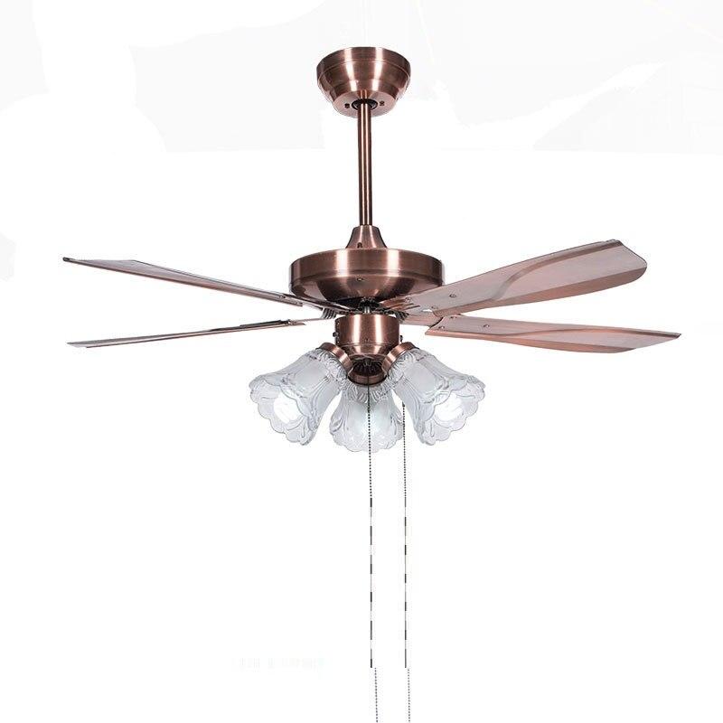 цены LukLoy Restaurant Ceiling Fan Pendant Light Invisible Living Room Lamp LED Electric Fan Ceiling Lamp Bedroom Study Pendant Light