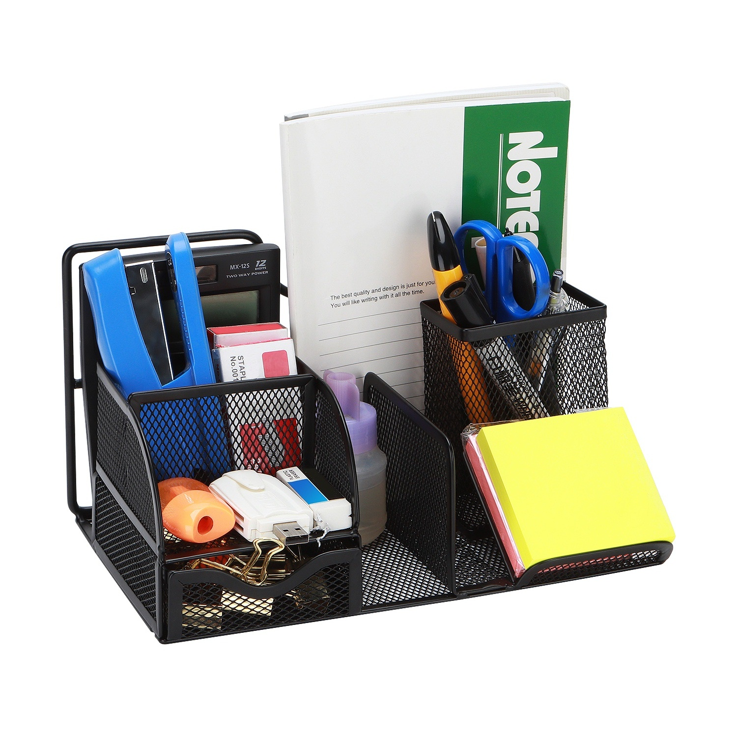 Metal Pen Holder Office Tabletop Pen Container Dressing Table Organizing Box