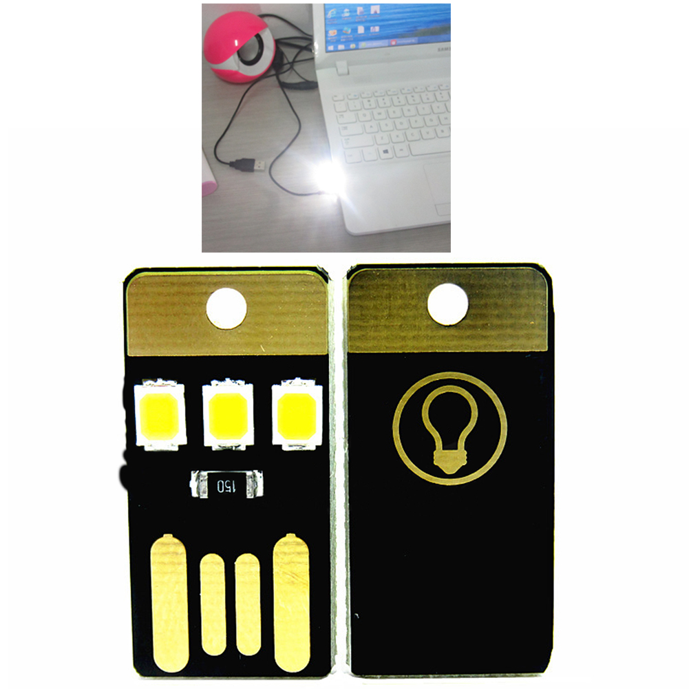 Led Card Pocket Light Wallet Light Portable USB Lamp With Mobile Power Energy Saving Desktop Lights For Computer Laptop Wallet