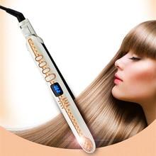 REBUNE Professional 45W Hair Straightener Ceramic Tourmaline Anion Perm Hair Straightener Digital Iron Hair Styling Tool