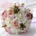 Пион цветок Фиолетовый Розовый Шоколад Цвет Люкс Для Невесты Цветок свадебный букет искусственный цветок розы жемчуг свадебные букеты