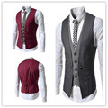 New Men Suit Vest Fashion Casual Wedding Formal Business Suits Blazer Costume Vest  customized size and color
