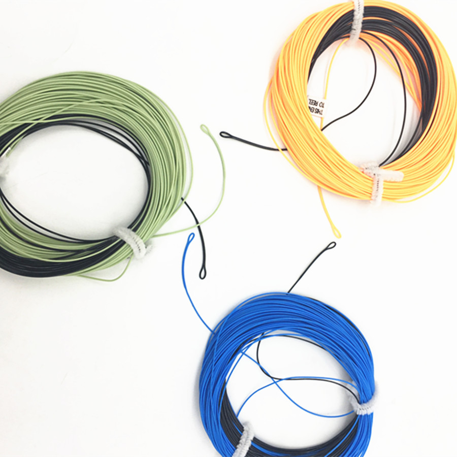 2 Welded Lopps 3#-9#F/S Weight Forward Floating Fly Fishing Line With Sinking Tip 100FT Fly Line