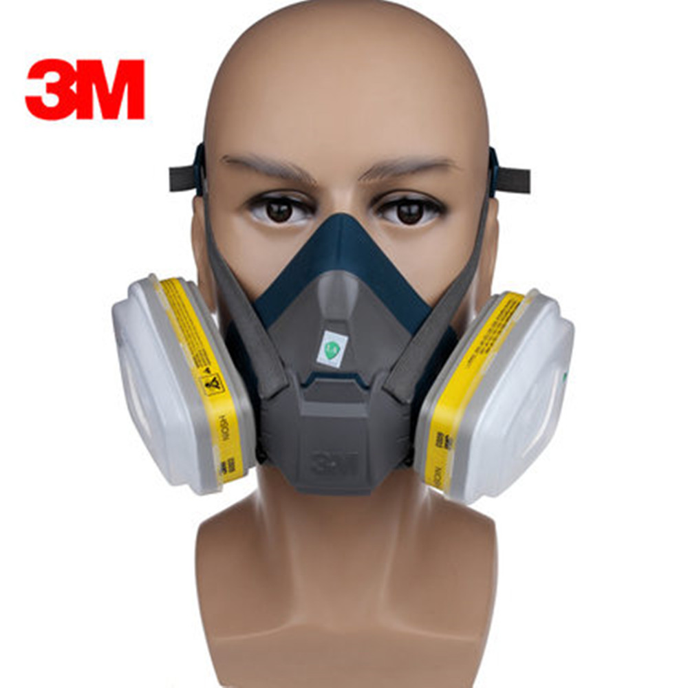 3M 6502 Respirator Mask Anti Dust Gas Silicone Fast Buckle Type Respirator Face Mask Used for Painting Toxic Places Gas Mask 11 in 1 suit 3m 6200 half face mask with 2091 industry paint spray work respirator mask anti dust respirator fliters