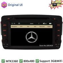 Car DVD Player Radio Stereo GPS Support 3G WIFI For Mercedes-Benz A C G CLK M ML Class Vito W163 W639 W638 W203 W209 Original UI