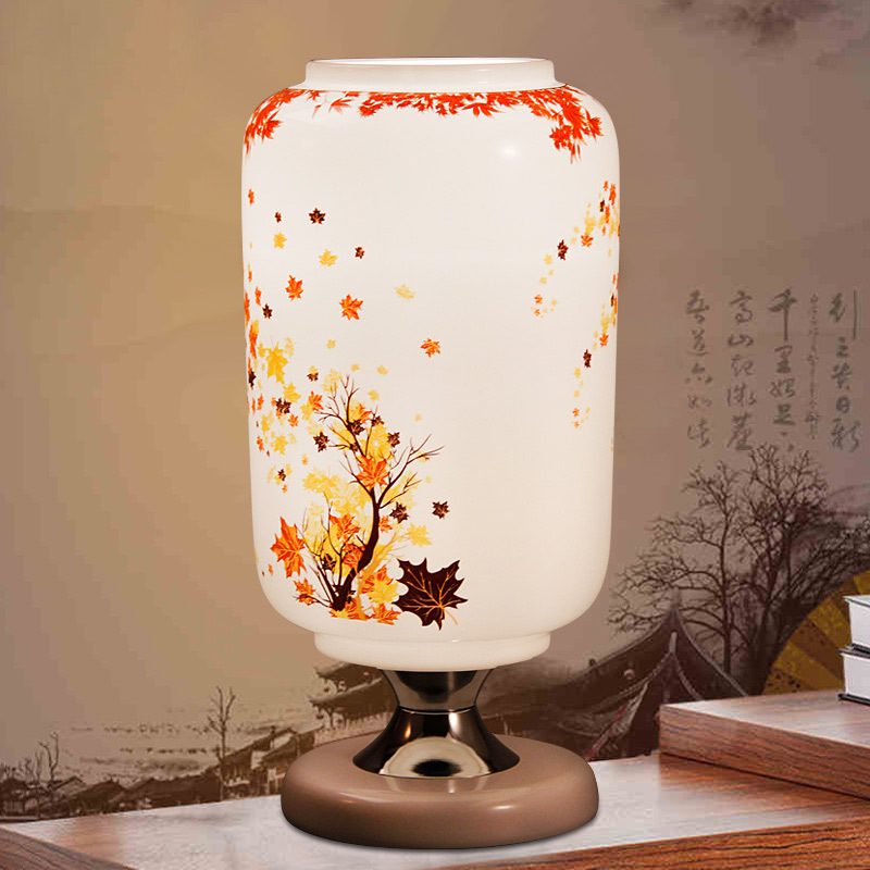 TUDA 33X11cm Free Shipping Creative Ceramic Table Lamps Chinese Style Table Lamps Modern Decoration Table Lamps E27 110V-220V new arrival modern chinese style bamboo wool lamps rustic bamboo pendant light 3015 free shipping