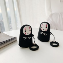 Cute No face Man 3D lifting rope Cartoon Wireless Bluetooth Earphone Case For Apple AirPods 2&1 Silicone Charging
