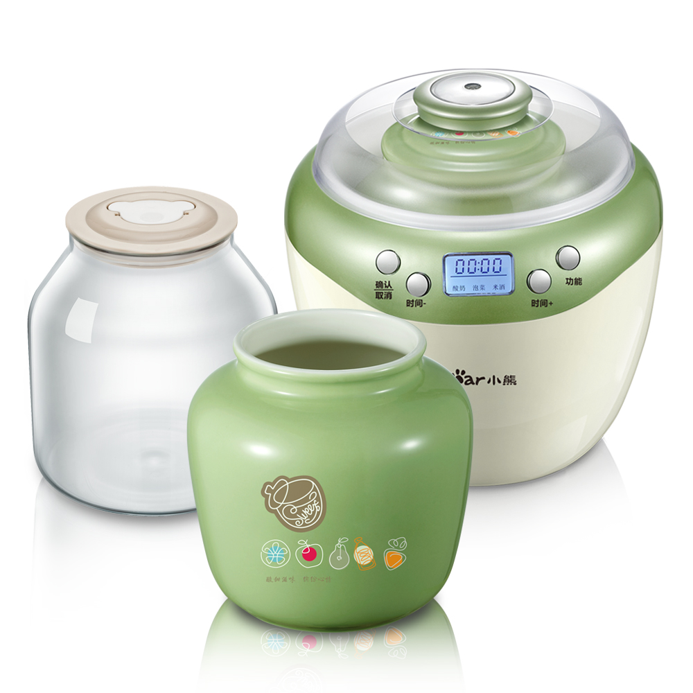 Bear 2.0L Large Capacity Yogurt Makers Household Automatic Rice Wine Natto Yogurt Making Machine Pickle Altar Ceramics Liner rw 1 5l automatic natto yogurt makers light green household intelligent rice wine yogurt machine with glass liner free shipping